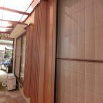 折りたたみ式雨戸があり、防犯や台風時にも安心!!