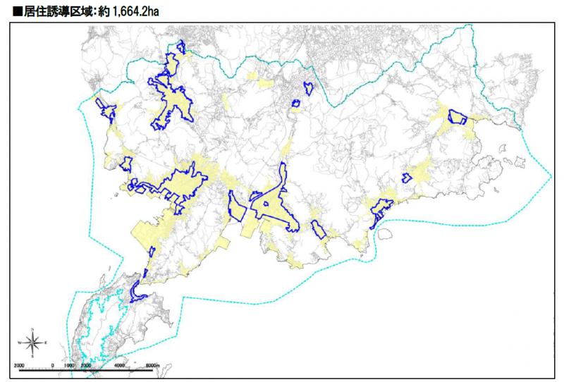 居住誘導区域の地図